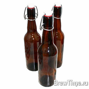 Бутылка с бугельной пробкой, 0,75л коричневая