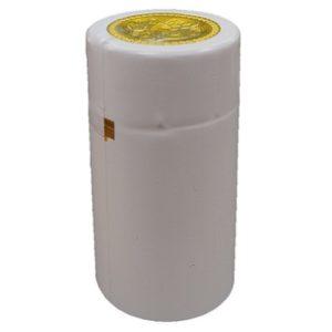 Термоусадочный колпачок на бутылку белый
